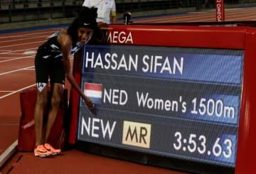 女子1500mはハッサンが優勝 陸上ダイヤモンドリーグ第3戦 画像1