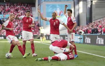 試合中断、デンマークは敗れる ベルギーはルカクが2点 画像1