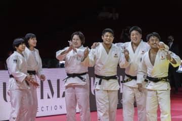 世界柔道の混合団体、日本がV4 フランスを4―0で下す 画像1