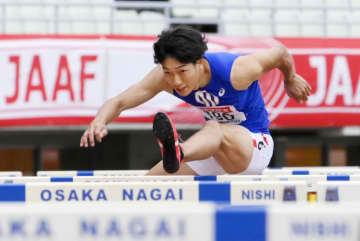 陸上、泉谷駿介が日本新で五輪へ 110m障害、日本選手権最終日 画像1