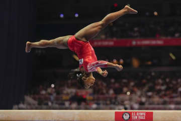 リオで女子4冠のバイルス五輪へ 体操の米国代表選考会 画像1