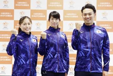 近代五種岩元「父の背中見せる」 五輪日本代表3選手が会見 画像1