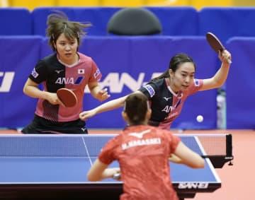 卓球女子団体、五輪代表が完勝 強化試合、協会選抜に 画像1