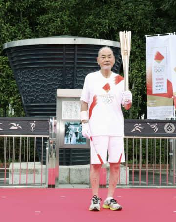 64年聖火台制作者ら参加し式典 最終中継地の埼玉でリレー 画像1
