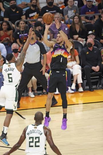NBA、サンズが開幕2連勝 決勝、バックスに118―108 画像1