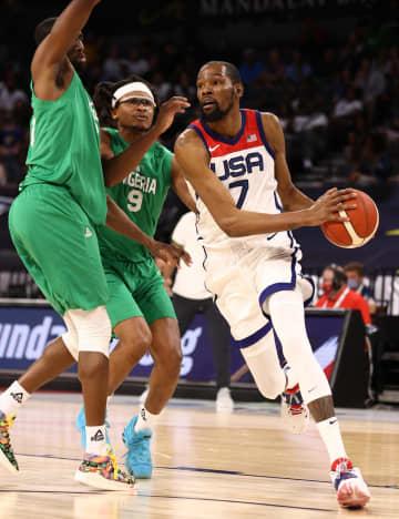 バスケ、米がナイジェリアに黒星 男子五輪代表、強化試合 画像1