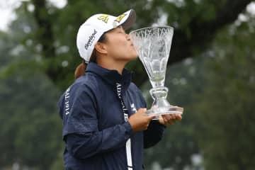 畑岡奈紗、2年ぶりの通算4勝目 米女子ゴルフ、最終ラウンド中止 画像1