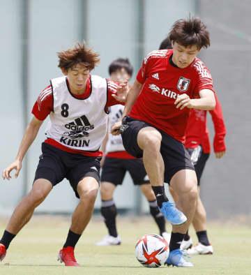 控え組が精力的に練習 サッカー男子五輪代表 画像1