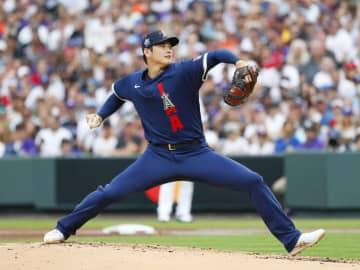 大谷、史上初の米球宴二刀流出場 1回無失点で勝ち投手 画像1
