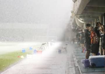 雷雨で名古屋―岡山戦は中止 サッカー天皇杯 画像1