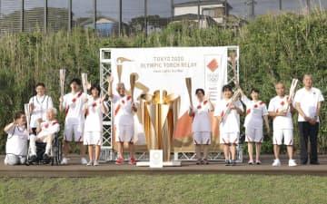 伊豆大島で聖火セレモニー 走行中止も、災害からの復興発信 画像1
