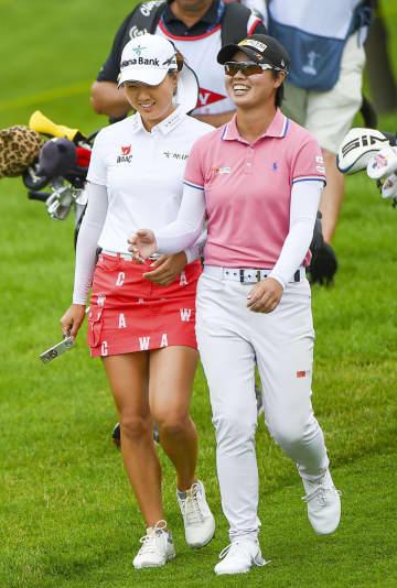 米女子ゴルフ、笹生組7位に浮上 ダウグレートレークスベイ招待 画像1