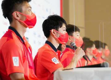 団体2連覇に挑む体操代表が入村 主将の萱「楽しみに待っていた」 画像1