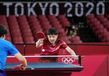 卓球五輪代表が初の公式練習 張本、伊藤ら笑顔で確認 画像1