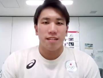 競泳の松元「勝ちにこだわる」 五輪代表、佐藤「ぶっ倒れても」 画像1