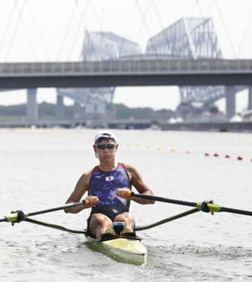荒川、シングルスカル準々決勝へ ボート・23日 画像1