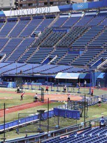 日本ソフト代表、横浜で調整 2連勝に大きな反響 画像1
