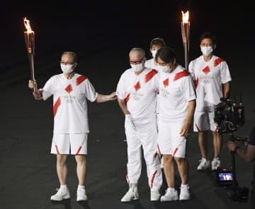 ON、松井さん聖火リレー 国民栄誉賞の3人共演 画像1