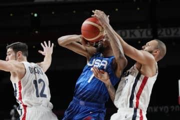 王者米国がフランスに敗戦 バスケットボール・25日 画像1