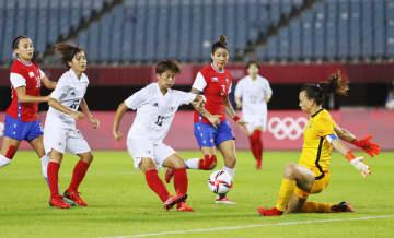 女子日本、準々決勝進出 サッカー・27日 画像1