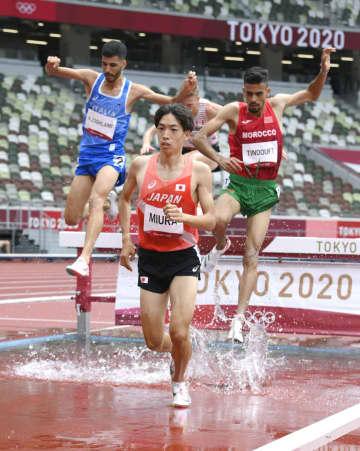 三浦が日本新で3千m障害決勝へ 陸上・30日 画像1