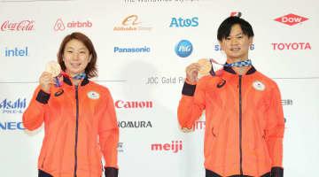 「メダル獲得」、有言実行を実感 バドミントン混合の渡辺、東野組 画像1