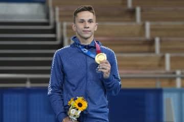 ベラルーシ初のメダルは金 トランポリンのリトビノビッチ 画像1