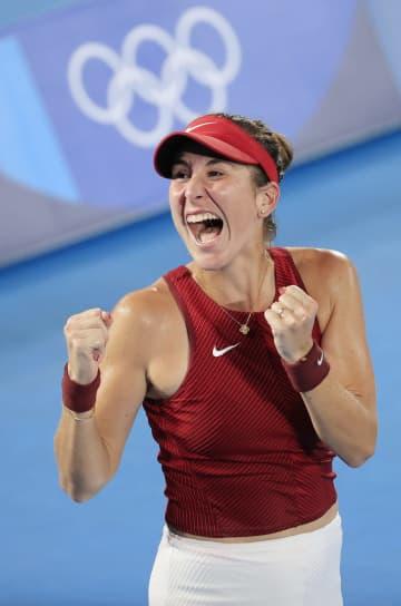 女子はベンチッチが金メダル テニス・31日 画像1