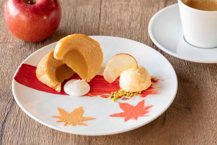 蜜りんごのしっとりバウムクーヘン