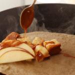 りんごとシナモンケーキのデザートガレット