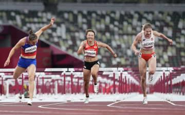 寺田明日香、準決勝で力尽きる 陸上女子100m障害 画像1