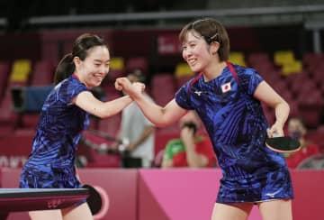 女子団体で日本が8強入り 卓球・1日 画像1