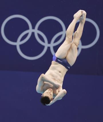 寺内健が10位で準決勝へ 飛び込み・2日 画像1
