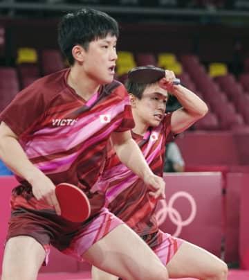 男子団体、日本は準決勝へ 卓球・3日 画像1