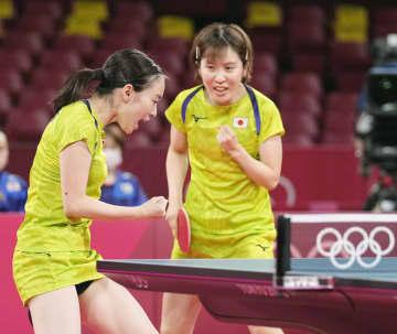 女子団体決勝進出で銀以上 卓球・3日 画像1