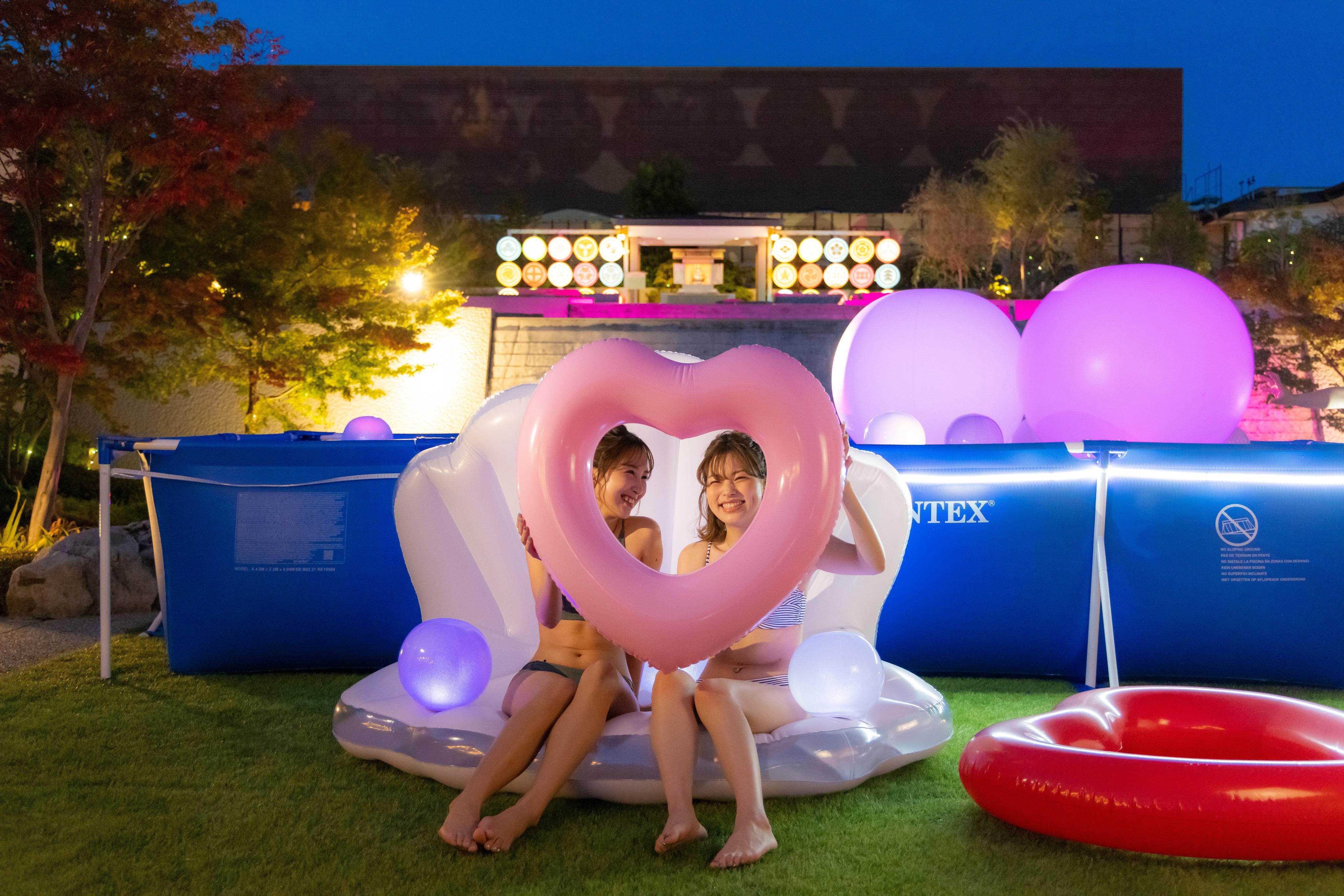 大阪市の温泉型テーマパークでプチナイトプール&夜市を開催 「空庭温泉 OSAKA BAY TOWER」、庭園でグランピングやテントサウナも 画像1