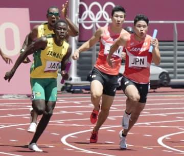 男子400リレー日本が決勝進出 陸上・5日 画像1