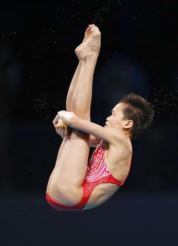 中国の14歳、全紅嬋が圧勝 飛び込み・5日 画像1