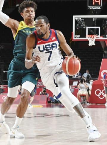 男子決勝は米国とフランス バスケットボール・5日 画像1
