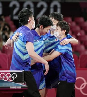 卓球日本、韓国破り「銅」 男子団体2大会連続メダル 画像1