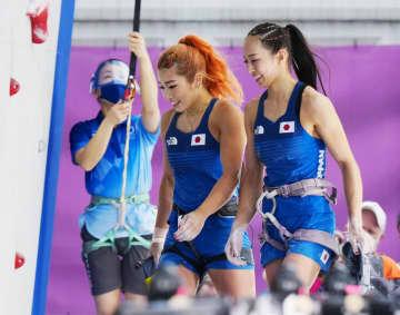 野中が「銀」、野口が「銅 スポーツクライミング女子複合 画像1
