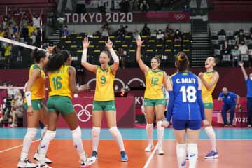 決勝は米国―ブラジルに バレーボール・6日 画像1