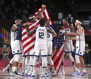 男子は米国が4連覇 バスケットボール・7日 画像1