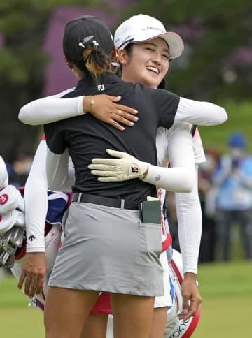 稲見萌寧が銀メダル ゴルフ・7日 画像1