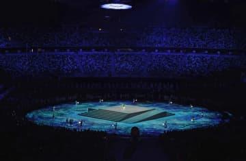 全ての人追悼の時間に和太鼓 東京大会閉会式で 画像1