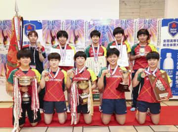 卓球女子で四天王寺が8連覇 全国高校総体第23日 画像1