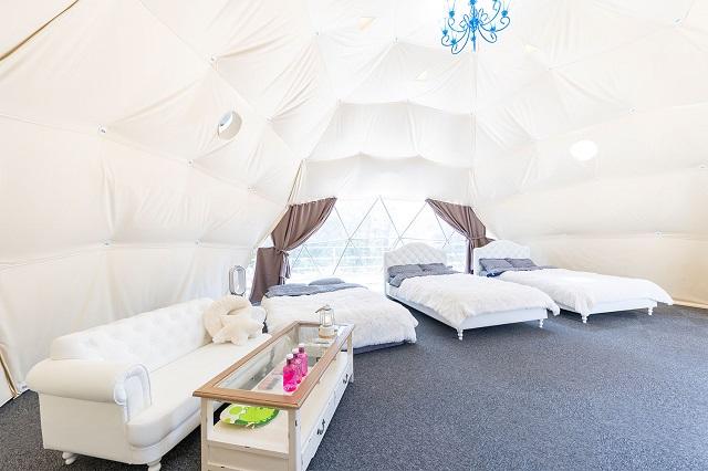 岐阜県初!星が降る湖畔の森に佇むドーム型グランピング施設「星が見の杜」 画像4