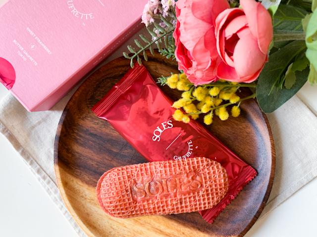 バターゴーフレット専門店「SOLES GAUFRETTE」から期間限定で登場!甘酸っぱいいちごの「バターゴーフレット スイートストロベリー」【実食ルポ】 画像10