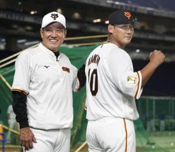 中田翔、巨人の全体練習に合流 新たな背番号10でフリー打撃 画像1
