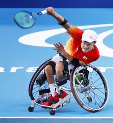 東京パラ、国枝と上地が初練習 車いすテニス日本代表 画像1